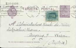 B4  Tarjeta Postal ( R894898 )  An  Natur. Hist. Museum In Wien Um 1925 ( Zusatzfranktur )