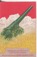 4-Prestito-Nazionale-Militaria-Prima Guerra-mondiale-Originale D' Epoca-Tema Armi: Cannone-Nuova-Firmata - Guerre 1914-18