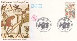 FDC Du 5 Septembre 1987 à Caen Guillaume Le Conquerant Extrait De La Tapisserie De Bayeux - FDC