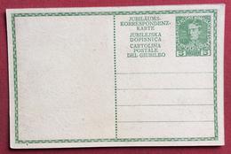 AUSTRIA  - CARTOLINA  POSTALE GIUBILEO  H. 5 -TEDESCO + SLOVENO + ITALIANO    NUOVA - Storia Postale