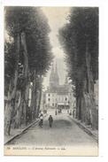 MOULINS  (cpa 03)  L' Avenue Nationale  -    - L 1 - Moulins