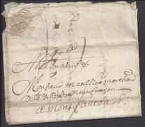 FR - 1678 - XVIIème - Lettre De Dumon En C..pour Montfaucon (Gard) - - Marcophilie (Lettres)