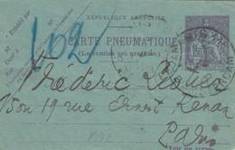 CARTE PNEUMATIQUE RUE D'AMSTERDAM  Bd PASTEUR     /  2
