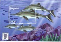 Guyana 2001 Souvenir Sheet Dinosaurs Prehistoric-Ichthyosaur #3671 - Guyana (1966-...)