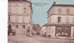 MONTMOREAU. - Carrefour Et Route De La Gare - France