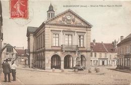 02 Aisne : Blérancourt  Hôtel De Ville Et Place Du Marché Réf 2922 - France
