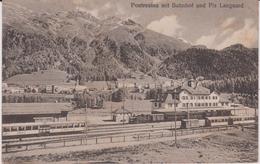 LB 18 : Suisse : Pontresina  Mit  Bahnhof ( Gare) Und  Piz  Languard  ( Train) - Suisse