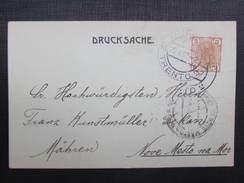 BRIEF Drucksache Trento - Nove Mesto N.M.1907 //// D*24430 - Briefe U. Dokumente