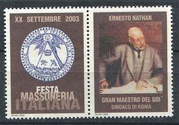 103 ITALIE 2003 - Ernesto Nathan - Masonic Franc Maconnerie Freemasonery - Neuf ** (MNH) Sans Charniere (Vignette) - Franc-Maçonnerie