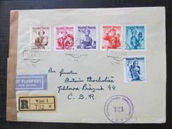 R-BRIEF Wien - Jihlava 1949 Zensur  /// D*24450 - 1945-60 Briefe U. Dokumente