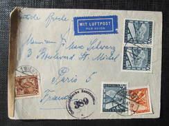R-BRIEF Wien - Paris ZEnsur 1947 /// D*24451 - 1945-60 Briefe U. Dokumente