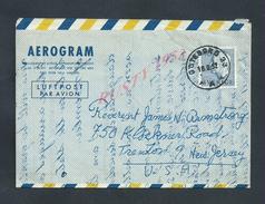 SUÈDE SWEDEN 1952 AÉROGRAM POUR TRENTON NEW JERSEY USA :