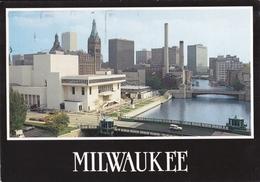 MILWAUKEE - WISCONSIN - Along The Milwaukee River - Performing Art Center - City Hall - Milwaukee's Skyline - Milwaukee