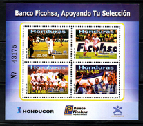 HONDURAS ,2004, SOCCER, M/S,MNH** - Non Classés