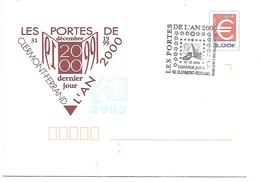 OBLITERATION DERNIER JOUR DU 20 EME SIECLE CLERMONT FERRAND - Postmark Collection (Covers)