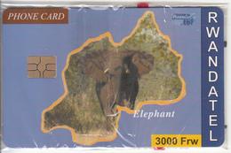 RWANDA - Elephant, First Chip Issue 3000 Frw, Mint