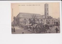 56 Lorient Place Bisson L' église St Saint Louis Cpa Animée - Lorient