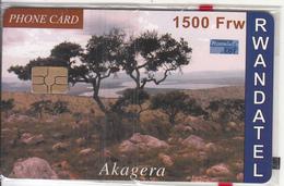 RWANDA - Akagera, First Chip Issue 1500 Frw, Mint