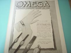 ANCIENNE PUBLICITE MONTRE OMEGA 1934 - Bijoux & Horlogerie