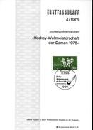 ALLEMAGNE   BERLIN  Carte Notice 1er Jour       Hockey Sur Gazon