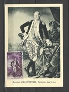 Monaco Carte Maximum George Washington FDC 1956 - George Washington
