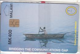 MALAWI - Canoe On Lake Malawi, MTL First Issue MK400, Mint - Malawi