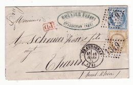Pli De Mars 1875    GC 1349    DRAGUIGNAN - 1849-1876: Klassik