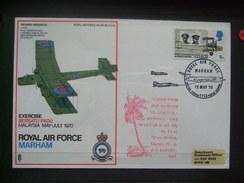 GB - Flown Cover - RAF Marham - Exercise `Bersatu Padu` Malaysia - 1970 - Postmark Collection
