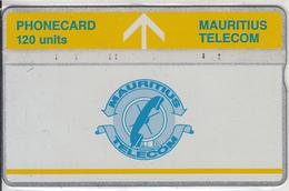MAURITIUS(L&G) - Telecom Logo 50 Units(yellow Band & Yellow Line), CN : 502B, Tirage 5000, Used - Mauritius