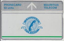 MAURITIUS(L&G) - Telecom Logo 50 Units(silver Band & Green Line), CN : 704A, Tirage 20000, Used - Mauritius