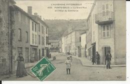 Pontgibaud  La Grande Rue Et L'Hotel Du Commercec - France