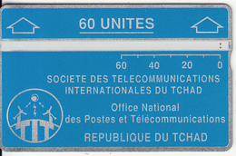 CHAD - Telecom Logo Blue 60 Units, CN : 244B, Tirage 16000, Used - Chad
