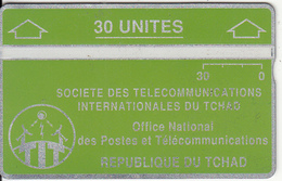 CHAD(L&G) - Telecom Logo Green 30 Units, CN : 105B, Tirage 14000, Used - Chad