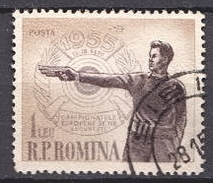 Romania Used Stamp - Shooting (Weapons)