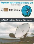 NIGERIA - Earth Station, Nigerian Telecom Ltd First Chip Issue 200 Units(9NAIFIB-normal Writing), Chip Siemens 37, Used