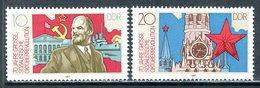 GDR 1987 3130-3131 70 YEARS OF OCTOBER SOCIALIST REVOLUTION VI. LENIN