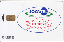 CENTRAL AFRICAN REPUBLIC - Explosion !!!, Socatel Logo Blue(50 Units), Used - Central African Republic
