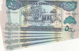 SOMALIA SOMALILAND 500 Shilling 2011 P-6h LOT X5 UNC NOTES */* - Somalia