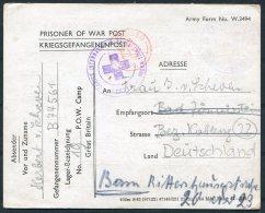 1944 Scotland POW Prisoner Of War Camp 19 Happenden, Camp + Red Cross Censor Postcard - Germany - Storia Postale