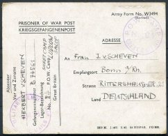 1945 GB POW Prisoner Of War Camp 84 Postcard Censor, Ludlow, Shropshire - Bonn, Germany - 1902-1951 (Re)