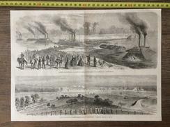 ANCIEN DOCUMENT 1860 GUERRE DES ETATS UNIS RIVIERE ROUGE ARMEE FEDERALE PETERSBOURG Guerre De Sécession CIVIL WAR USA - Colecciones