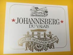 4180 - Johannisberg Cave De Molignon Sion Valais Suisse - Etiquettes