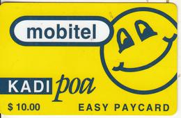 TANZANIA - Blue Smiling Sun, Mobitel Prepaid Card $10, Exp.date 01/01/00, Used - Tanzania