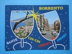 Sorrento - Napoli - Cin Cin - Sagome Bicchieri - Vedutine - Panorama E Scorcio Vie - Napoli (Naples)