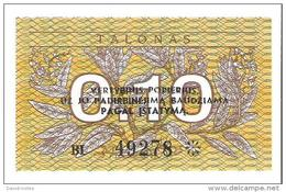 Lithuania - Pick 29b - 0.10 Talonas 1991 - Unc - Lituanie