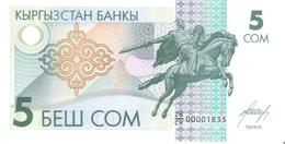 Kyrgyzstan - Pick 5 - 5 Som 1993 - Unc - Kirghizistan