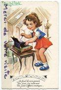 - Enfant - Petite Fille, Boite à Musique, Couplet, Peu Courante, écrite,1961, BE, Scans. - Cartes Humoristiques