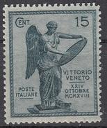 Italia - 1921 - 3° Anniversario Della Vittoria - 15 Cent. ** - 1900-44 Vittorio Emanuele III