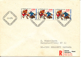 Finland Registered FDC 5-3-1974 European And World Championship Icehockey Sent To Denmark