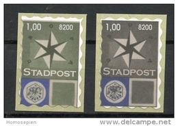 Europa CEPT Pays Bas - Netherlands - Niederlande 1957 Y&T N°(1) Et (2) - Michel N°(1) Et (2) *** - Vignette STADPOST - Europa-CEPT